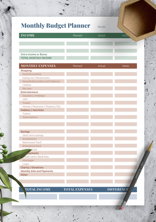 Budget Expenses Template from onplanners.com