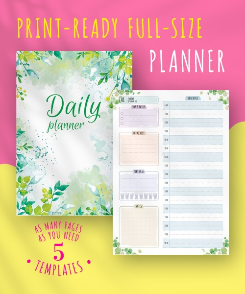 image about Full Focus Planner Pdf identify Everyday Planner Templates Printable - Obtain Cost-free PDF