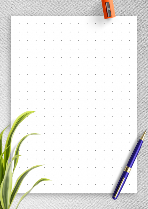 image about A5 Dot Grid Printable named Dot Grid Paper Free of charge Printables