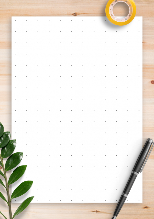 image relating to Printable Bullet Journal Paper titled Dot Grid Paper Cost-free Printables