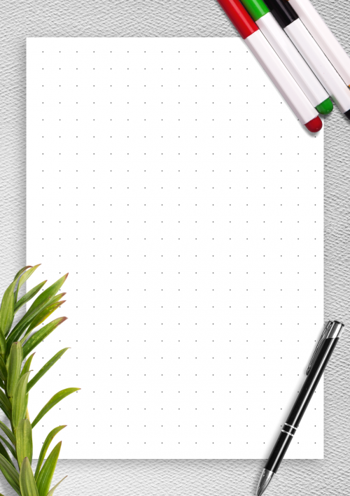 graphic relating to Free Printable Dot Paper identified as Dot Grid Paper Cost-free Printables