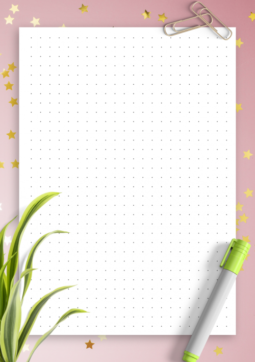 graphic regarding Bullet Journal Dot Grid Printable identified as Dot Grid Paper Free of charge Printables