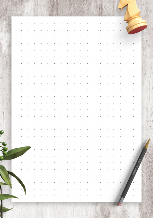 photograph about Printable Bullet Journal Paper known as Dot Grid Paper Totally free Printables