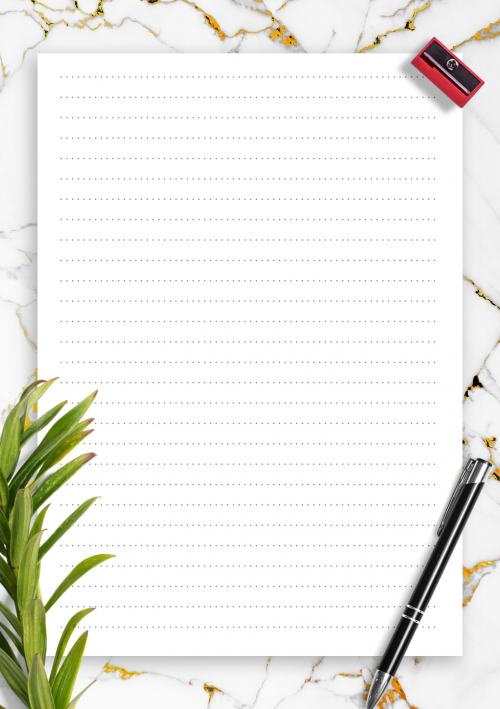picture regarding Printable Paper With Lines identified as Included Paper Template Printables