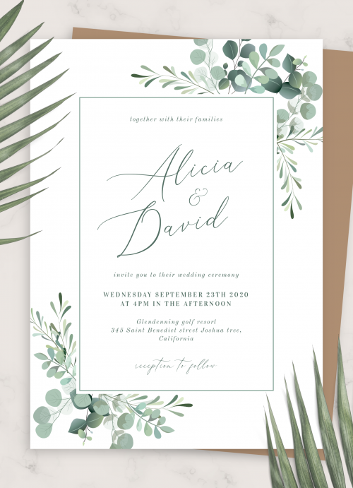 Boho Wedding Invitations Download Pdf Or Order Prints