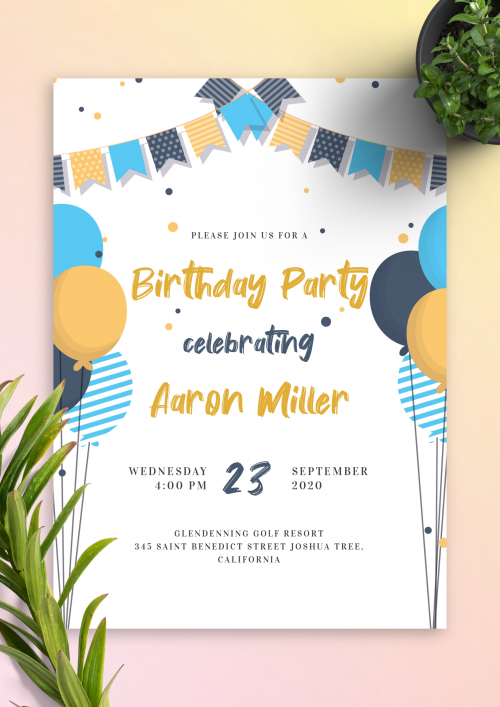 Party Invitation Templates Download Pdf Or Png