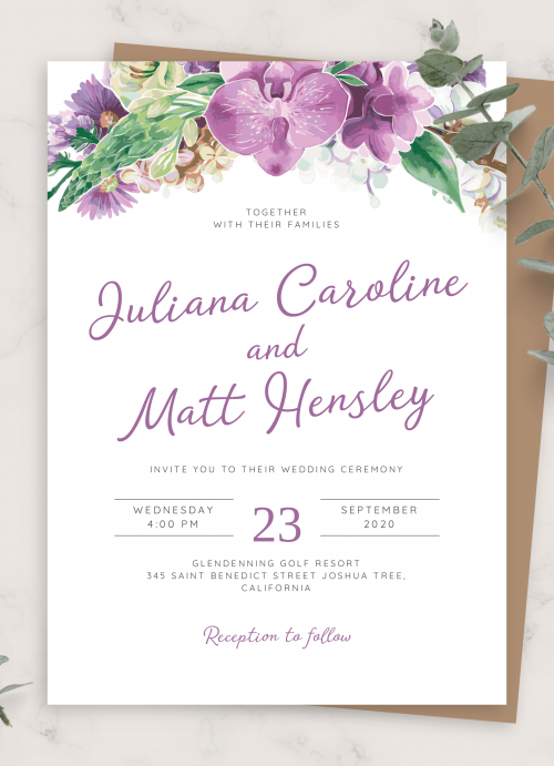 Rustic Wedding Invitation Peony Wedding Invitation Floral Wedding Invitation INSTANT DOWNLOAD Editable Printable Invitation Template WI138