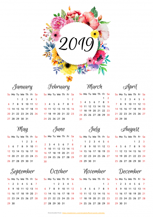Free Printable 2020 Monthly Calendar.Printable Calendars Download Pdf
