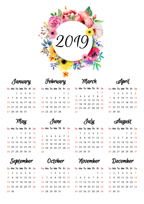Pdf Calendario 2020.Printable Calendars Download Pdf