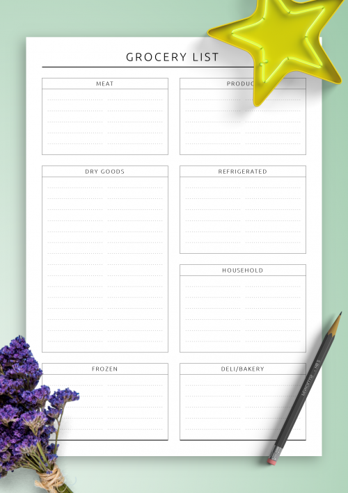 graphic about Printable Grocery List Template called No cost Printable Straightforward grocery checklist template PDF Obtain