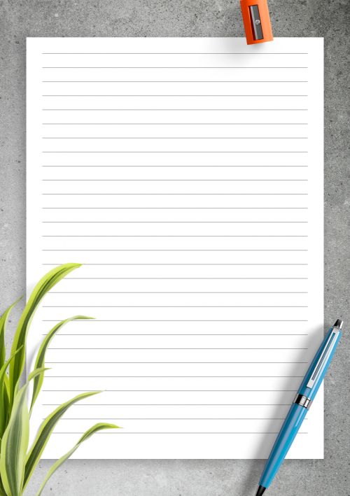 photo regarding Lined Paper With Columns Printable named Included Paper Template Printables