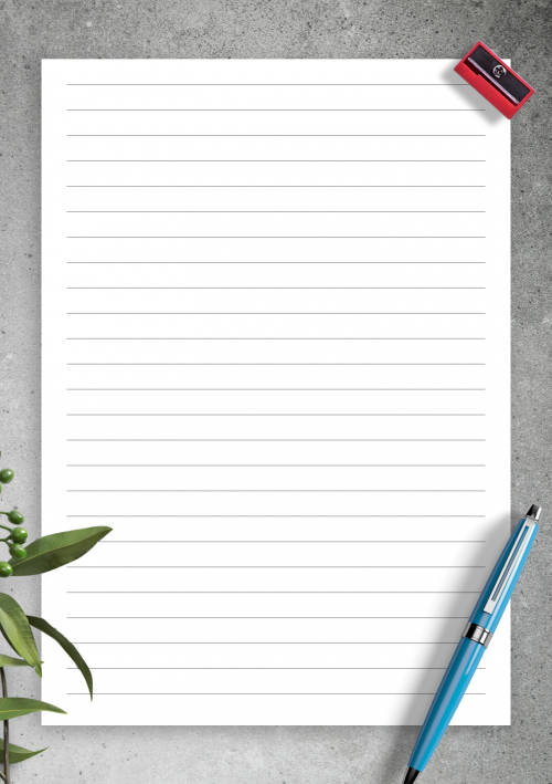photograph about Printable Note Papers named Included Paper Template Printables