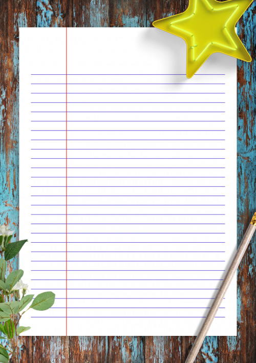 graphic relating to Lined Paper With Columns Printable known as Included Paper Template Printables