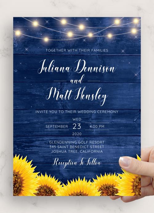 Floral Invitation Country Wedding Invitation Printable Wedding Invitation Fully Editable Floral Rustic Wedding Invitation Template
