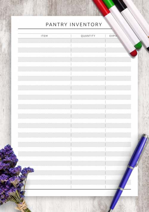 photo about Pantry Inventory Printable known as No cost Printable Pantry Stock - Floral Layout PDF Obtain