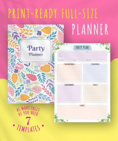 image regarding Party Planner Templates titled Templates