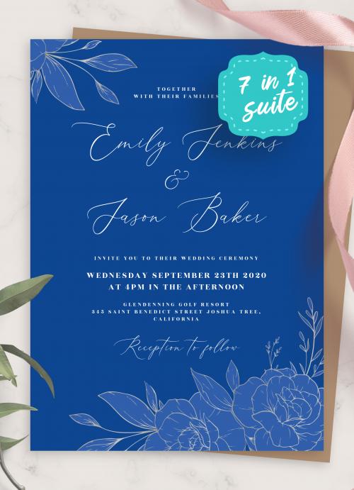 elegant wedding invitations download