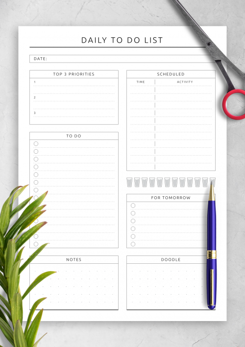 To Do List Templates Download Task List Pdf