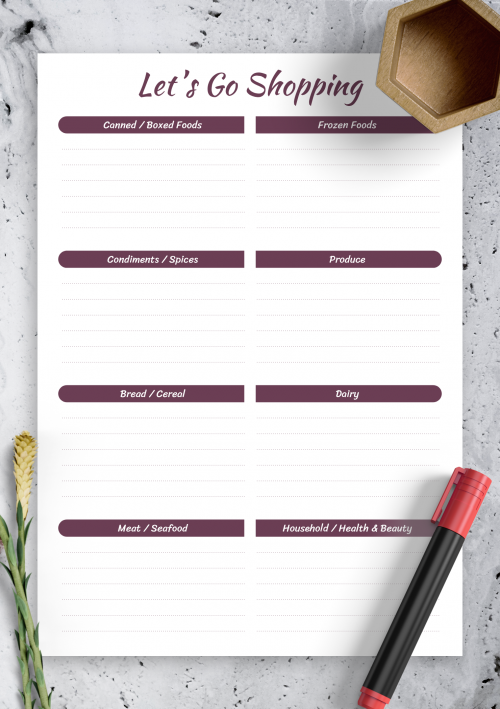 photograph regarding Printable Meal Planning Template named No cost Printable Dinner Planner Templates - Obtain PDF