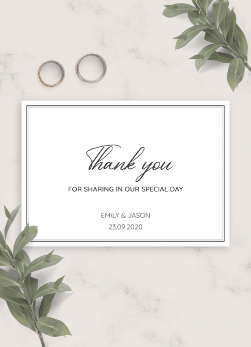 Wedding Thank You Cards Or