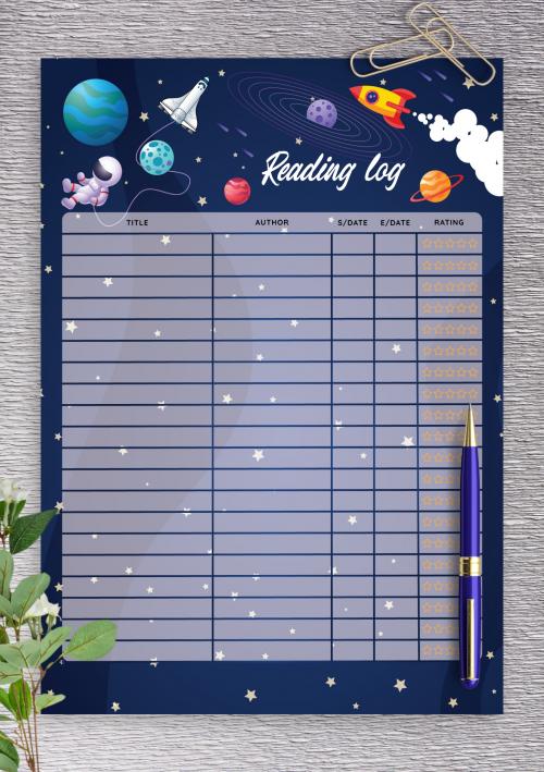 Reading List Printable Reading Log BUNDLE Reading Printable Reading Chart Reading Tracker Book Log Instant Download