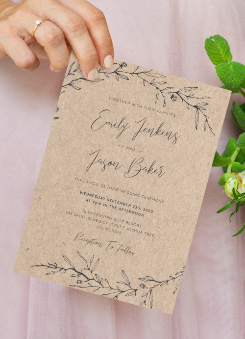 Rustic Wedding Invitations Get Printed Or Digital