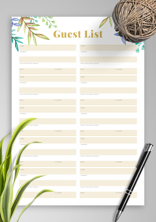 photograph regarding Printable Wedding Guest Lists named Absolutely free Printable Wedding day Visitor Checklist with Reward Component PDF Down load