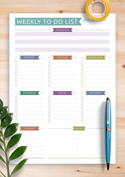 Create Friday To Do List Notepad