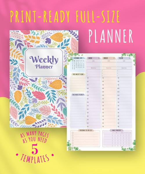 Printable Weekly Planner Templates - Download Free PDF