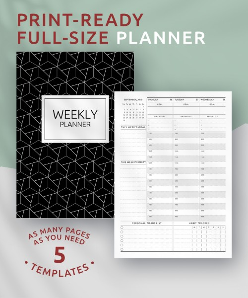picture regarding Free Printable Weekly Schedule referred to as Printable Weekly Planner Templates - Obtain Totally free PDF
