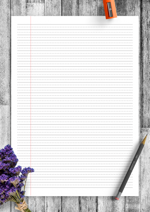 photo about Printable Wide Ruled Paper referred to as Included Paper Template Printables